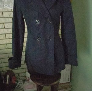 EXPRESS Lightweight Blue Jacket w/2 Pockets in Fro